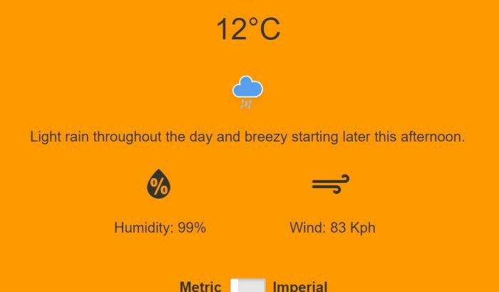 Image of Simple PHP weather app